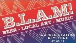blam at keystone, beer, local, art and music