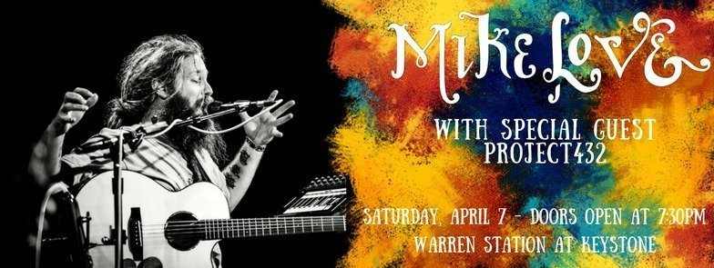 REGGAE STAR MIKE LOVE TO HEADLINE WARREN STATION END OF SEASON CONCERT, SATURDAY APRIL 7TH