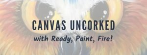 Canvas Uncorked text over an owl painting