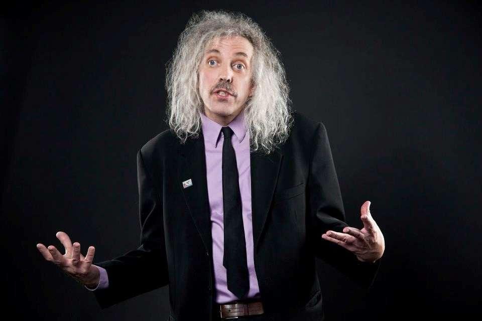 comedian John Novosad at Warren Station