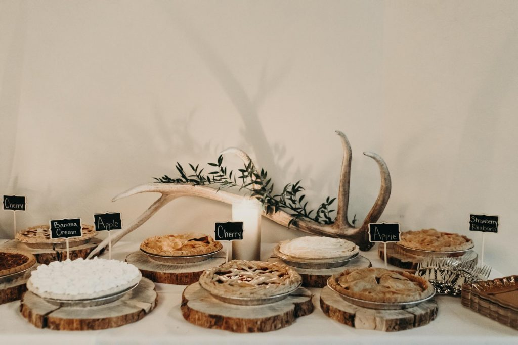 Dessert Table with Pies and Decoration