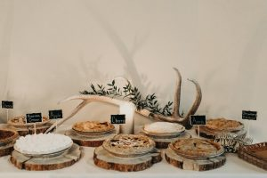 Dessert Table with Pies and Decoration set by Wedding Coordinator