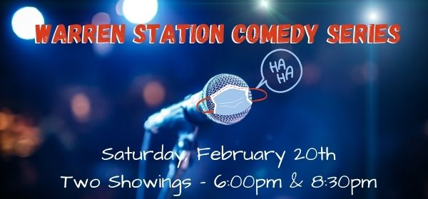 event header for the warren station comedy series