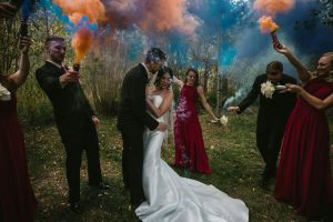 Bridal Party Smoke Bomb Picture