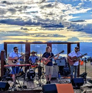 High Five plays at the Tiki Bar on Lake Dillon