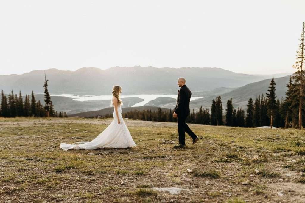 Couple Standing on Top of Keystone Mountain