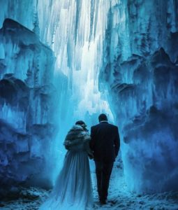 Couple in Ice Castles local