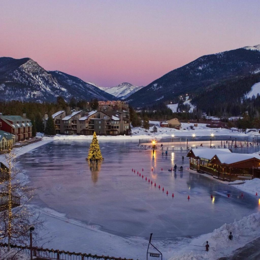 Ice Skating at Keystone Resort is a perfect engagement location at Keystone Mountain