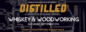 Distilled Event Logo Whiskey & Woodworking