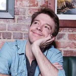 Head shot of Ben Bryant the comedian for Warren Station on April 3rd