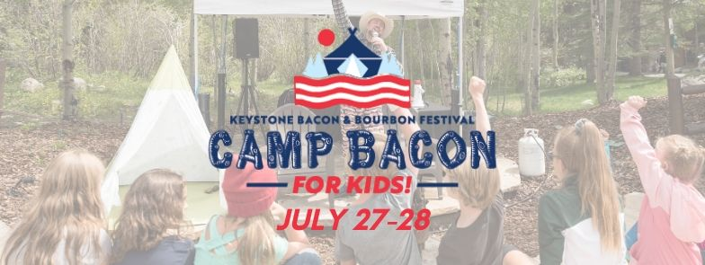 """Camp Bacon kids participate in an """"OH BACON"""" cheer"""