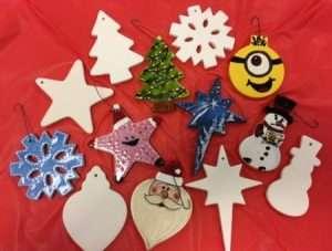 Ceramic Christmas ornaments